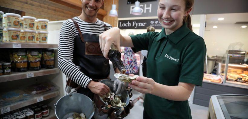 LOCH FYNE OYSTERS INNOVATIVE PARTNERSHIP WITH DOBBIES