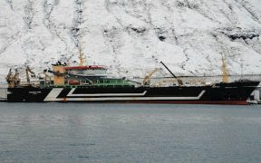 LARGEST FISHING VESSEL LANDS BLUE WHITING IN FAROES