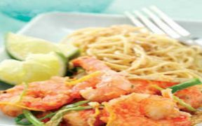 THAI PRAWNS WITH NOODLES