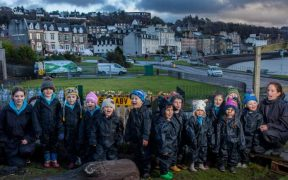 SALMON FARMER HELPS NURSERY