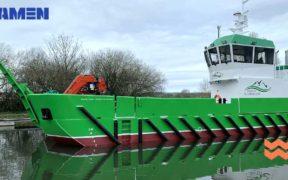 DAMEN SHIPYARDS DELIVERS AQUACULTURE SUPPORT VESSEL