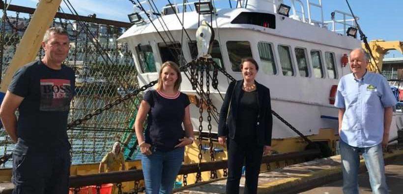 FISHING MINISTER VISITS HISTORIC FISHING PORT