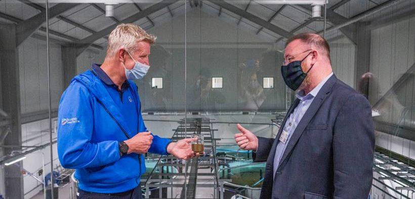 Salmon Hatchery Visit by UK Government Minister